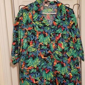 Rainforest parrot Hawaii shirt